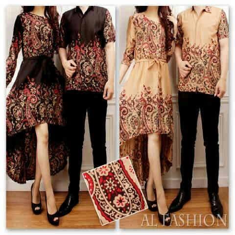 Baju Gamis Muslim Couple Sarimbit Batik Model Gamis